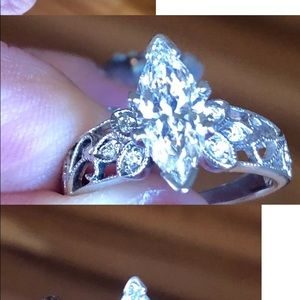 Jewelry - 1.40 Marquis Diamond Ring with 6 round stones